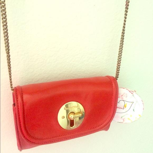 See by Chloe Lois Mini Red crossbody purse  295 1b674ddd68da1